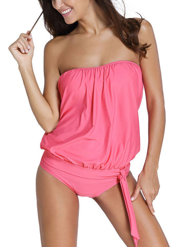 Image of Bandeau Tankini Swimsuit