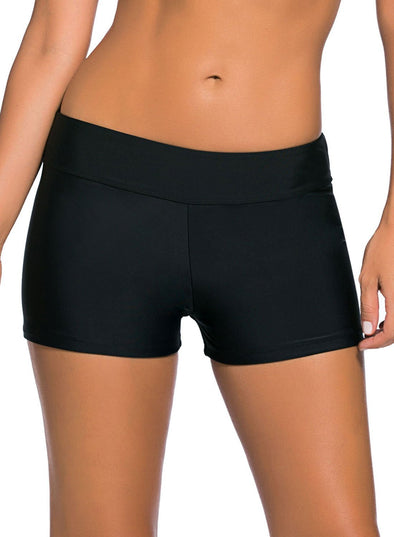 Wide Waistband Swimsuit Bottom Shorts