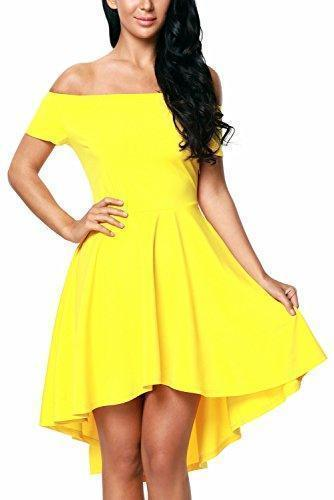 Off Shoulder Sleeve Flared Swing Dress