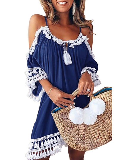 Boho Tassel Tunic Cover-Up (LC420080-5-1)