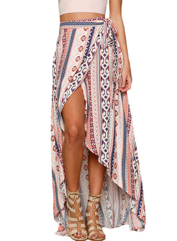 Image of Print Maxi Skirt