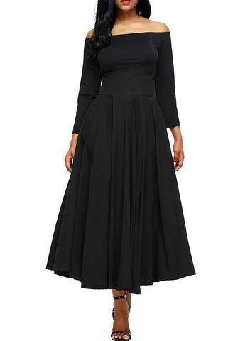 Image of Front Slit Belted A-Line Pleated Skirt