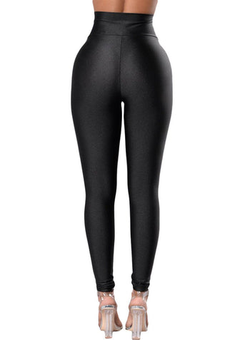 High Rise Tight Leggings with Waist Cincher