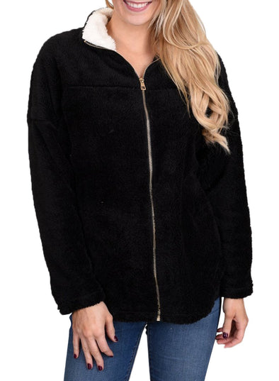 Lamb Fleece Zip Jacket