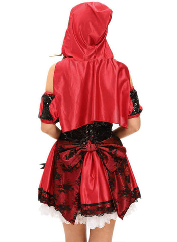 4pcs Miss Red Riding Hood Costume