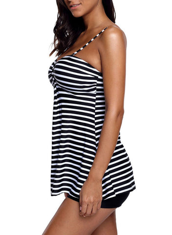 Striped Tankini and Short Set