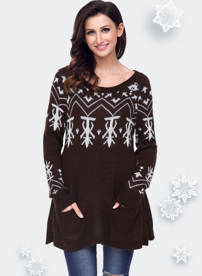 A-line Casual Fit Christmas Fashion Sweater (LC27720-17-1)