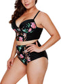 Image of Plus Size Floral High Waist Bikini Set