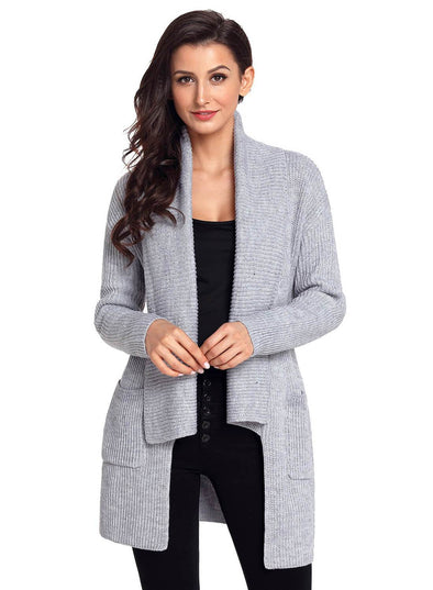 Comfy Cozy Pocketed Cardigan (LC27774-11-1)