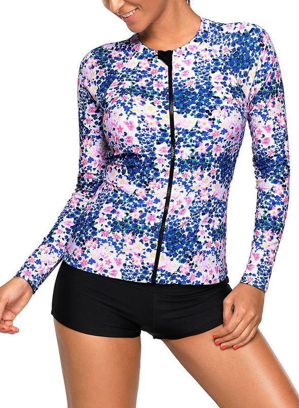 Zipped Rashguard Top