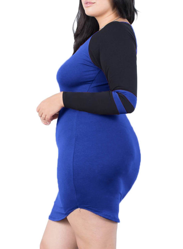 Plus Size Sporty Striped Dress
