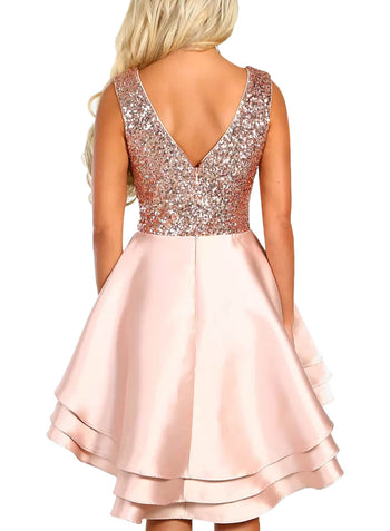 Sequin Multi Layer Skater Dress