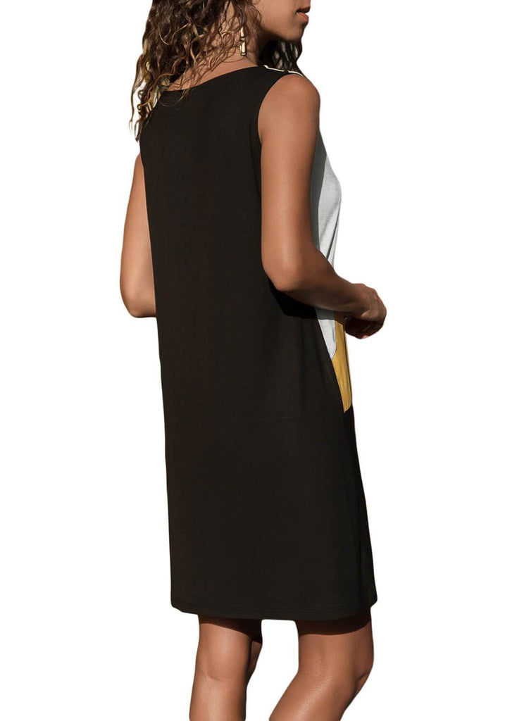 Color Block Geometric Sundress (LC220636-7-2)