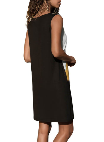 Image of Color Block Geometric Sundress (LC220636-7-2)