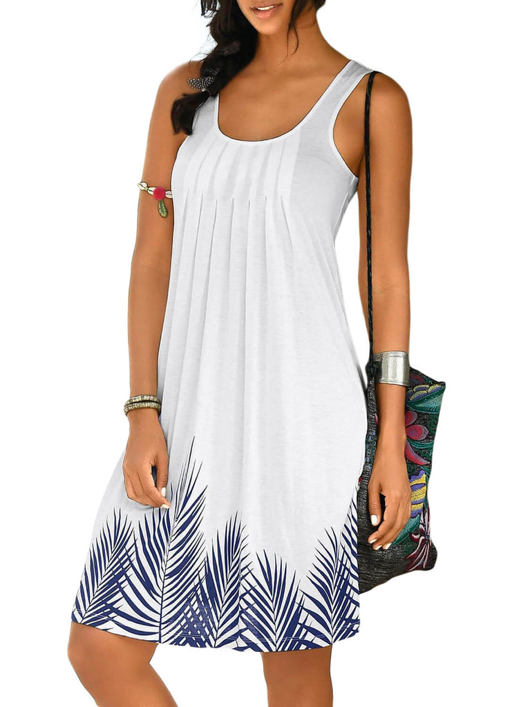 Beachtime Sleeveless Beach Dress (LC220646-1-1)