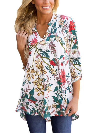 Floral Paisley Print Slight Blouse