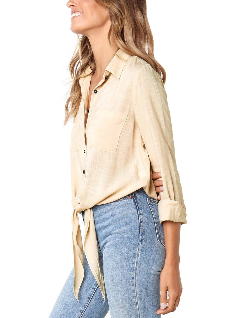 Crushed Linen Button-Down Shirt (LC251116-18-3)