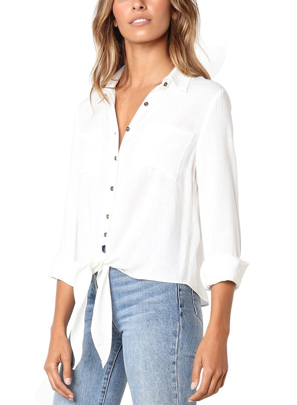Crushed Linen Button-Down Shirt (LC251116-1-3)