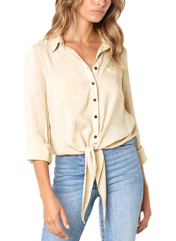 Crushed Linen Button-Down Shirt (LC251116-18-1)