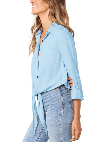 Image of Crushed Linen Button-Down Shirt (LC251116-4-3)