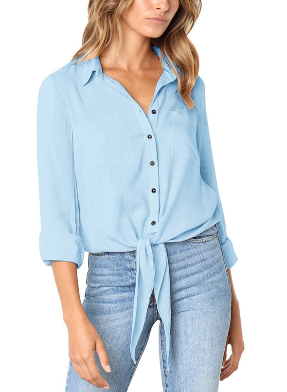 Crushed Linen Button-Down Shirt (LC251116-4-1)