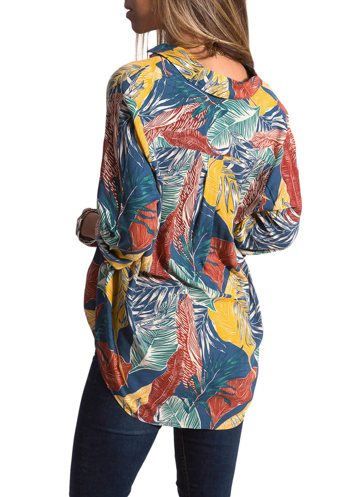Casual Tropical Button-down Shirts (LC251807-22-2)