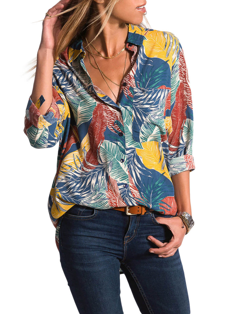 Casual Tropical Button-down Shirts (LC251807-22-3)