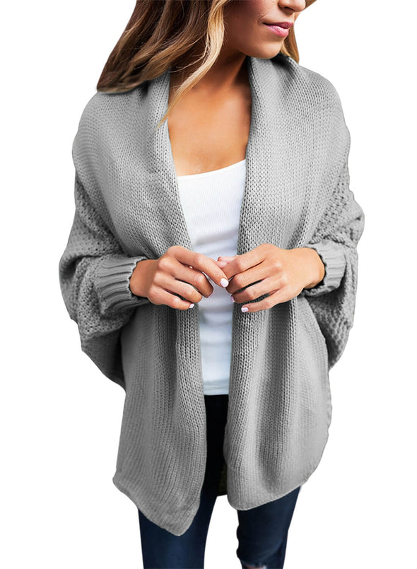 Chunky Knit Open Front Dolman Cardigan (LC27751-11-1)