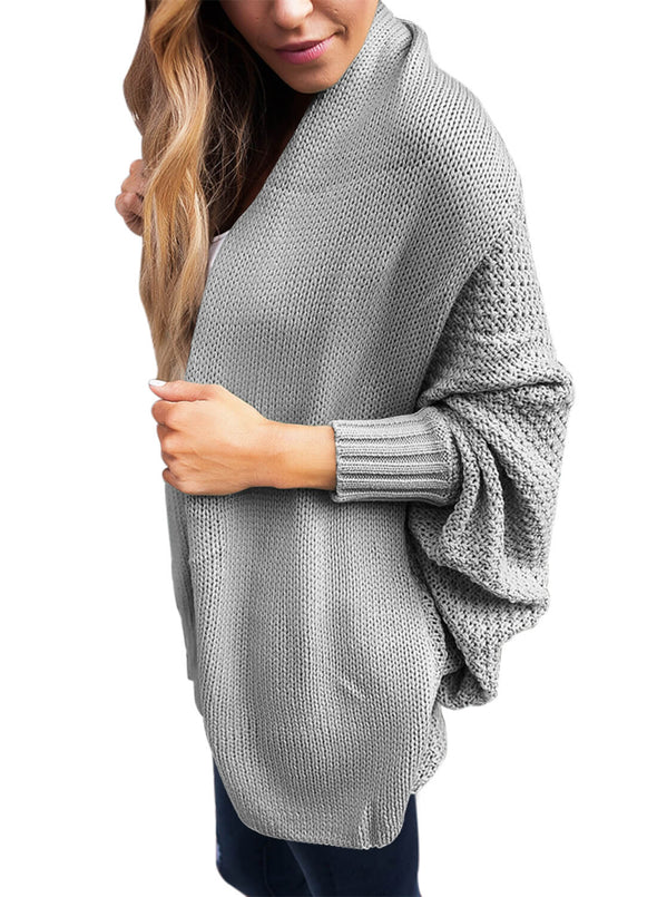 Chunky Knit Open Front Dolman Cardigan (LC27751-11-3)