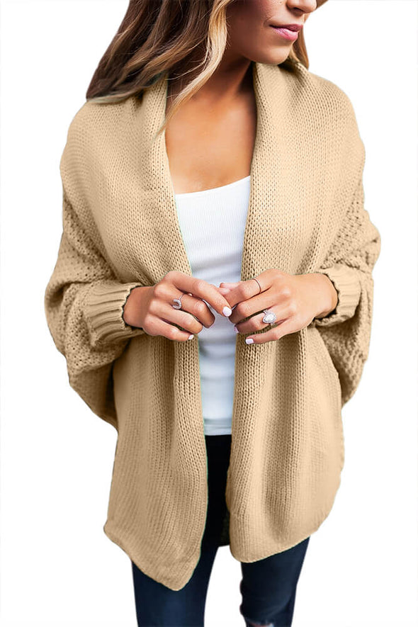 Chunky Knit Open Front Dolman Cardigan (LC27751-16-1)