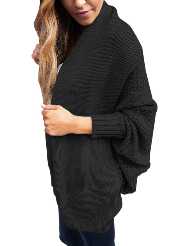 Chunky Knit Open Front Dolman Cardigan (LC27751-2-3)