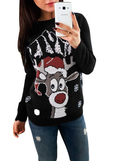 Christmas Crew Neck Sweater (LC27818-102-1)
