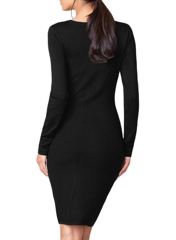 Image of Button Detail Sweater Dress