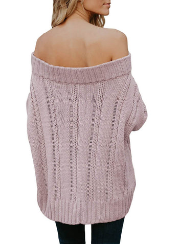 Off The Shoulder Winter Sweater