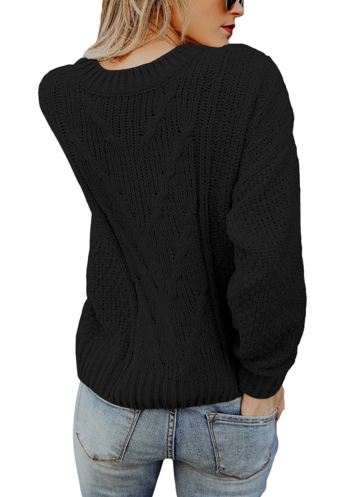 Reversible Velvet O Neck Sweater