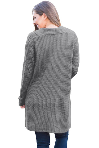 Image of Open Front Women Cardigan with Pockets