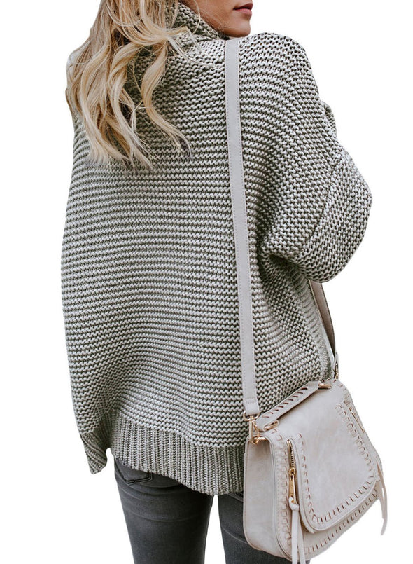 Cozy Long Sleeves Turtleneck Sweater (LC27930-11-2)