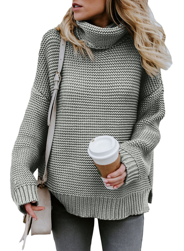 Cozy Long Sleeves Turtleneck Sweater (LC27930-11-1)