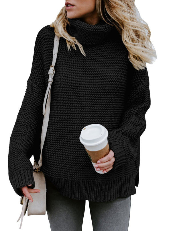 Cozy Long Sleeves Turtleneck Sweater (LC27930-2-1)