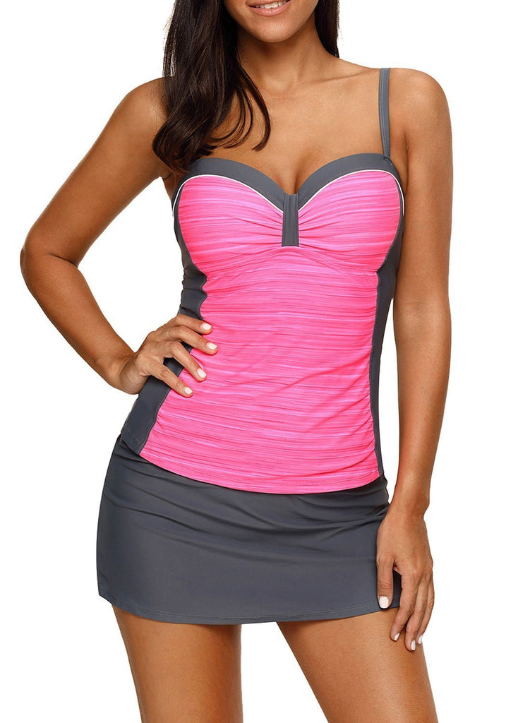 Ruched Tankini and Skirted Swimsuit
