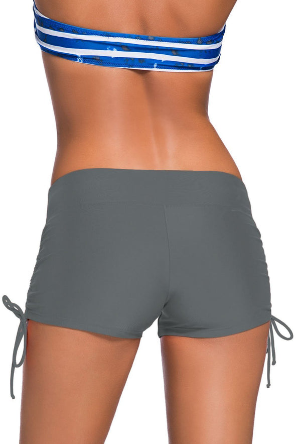 Adjustable Ties Swim Bottom Shorts (LC41986-11-2)