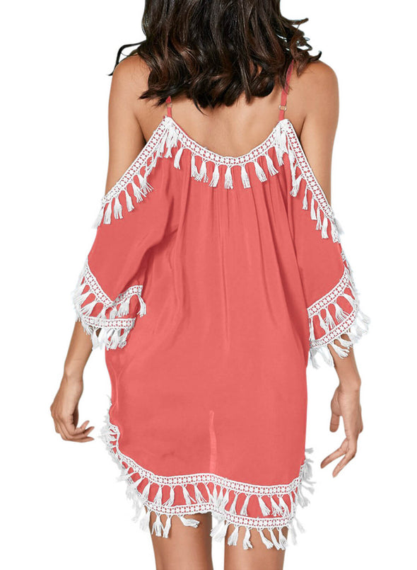 Boho Tassel Tunic Cover up (LC420080-10-2)