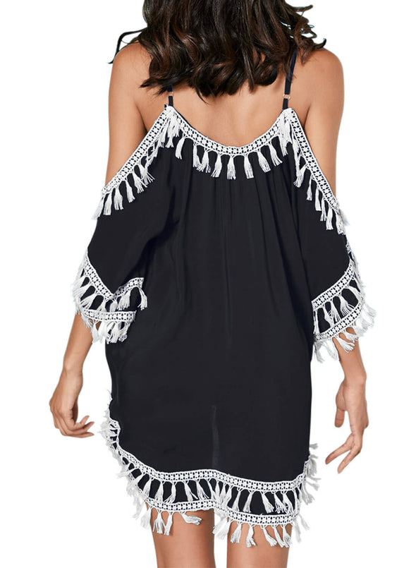Boho Tassel Tunic Cover up (LC420080-2-2)