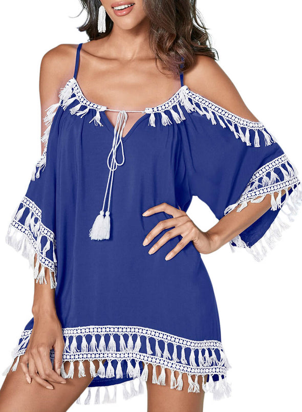 Boho Tassel Tunic Cover up (LC420080-5-1)