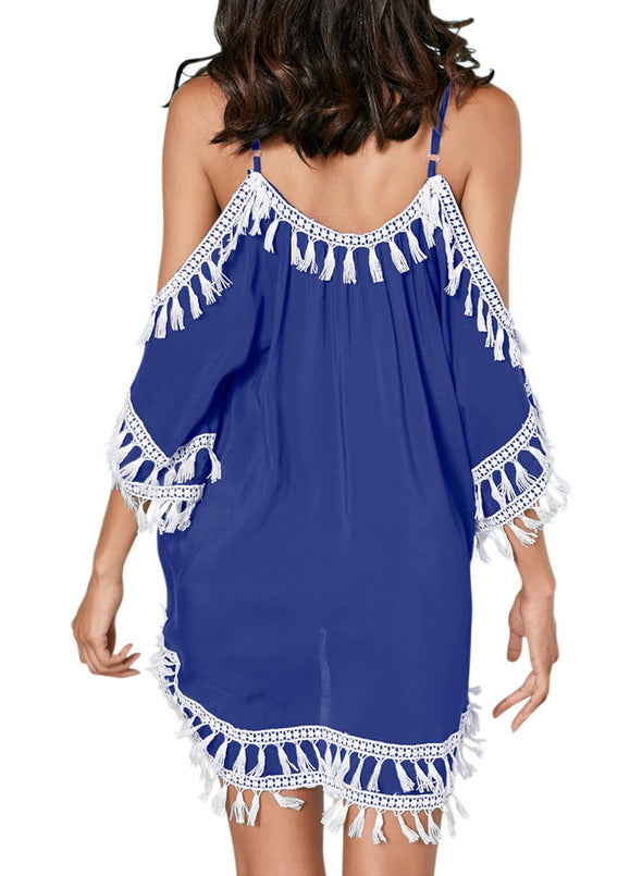 Boho Tassel Tunic Cover up (LC420080-5-2)