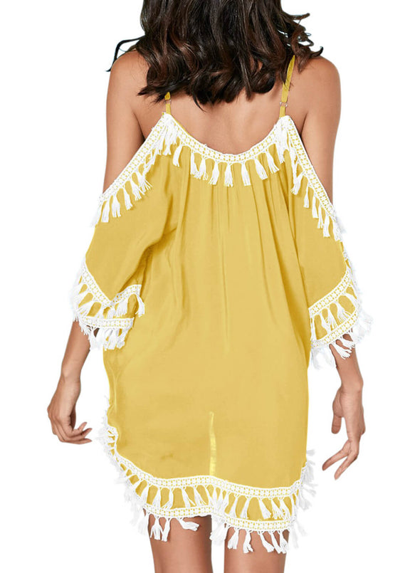 Boho Tassel Tunic Cover up (LC420080-7-2)