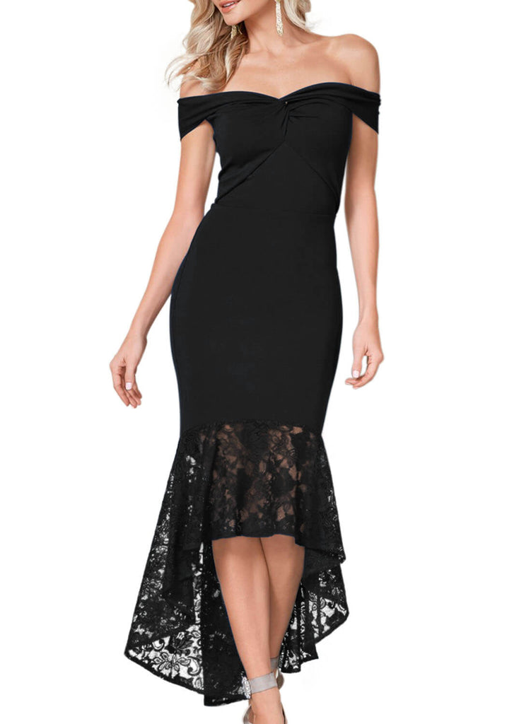 Lace Detail Mermaid Dress (LC611066-2-1)