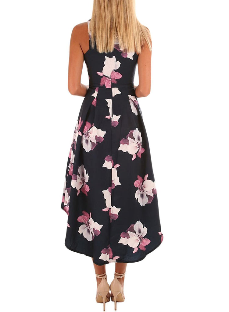8e21d79c3346 Floral High Low Hem Midi Dress. Hover to zoom