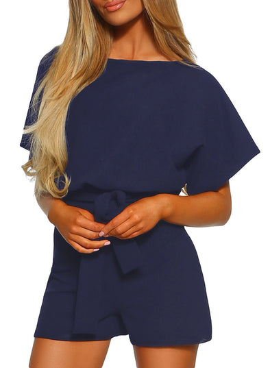 High Waisted Belted Playsuit (LC64515-5-1)