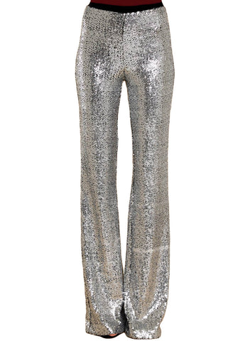 High Waist Sequin Bell-bottom Pants (LC77143-13-1)